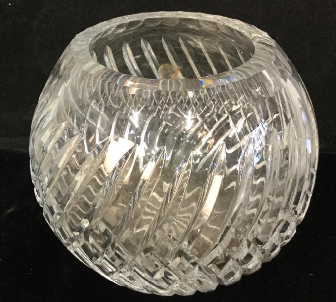 Vintage Glass Fruit Bowl With Cut Glass vase - 6