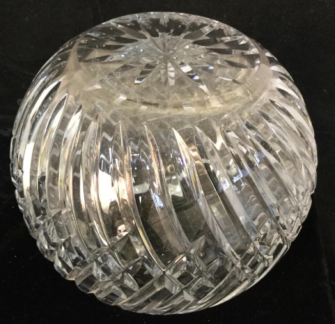 Vintage Glass Fruit Bowl With Cut Glass vase - 8