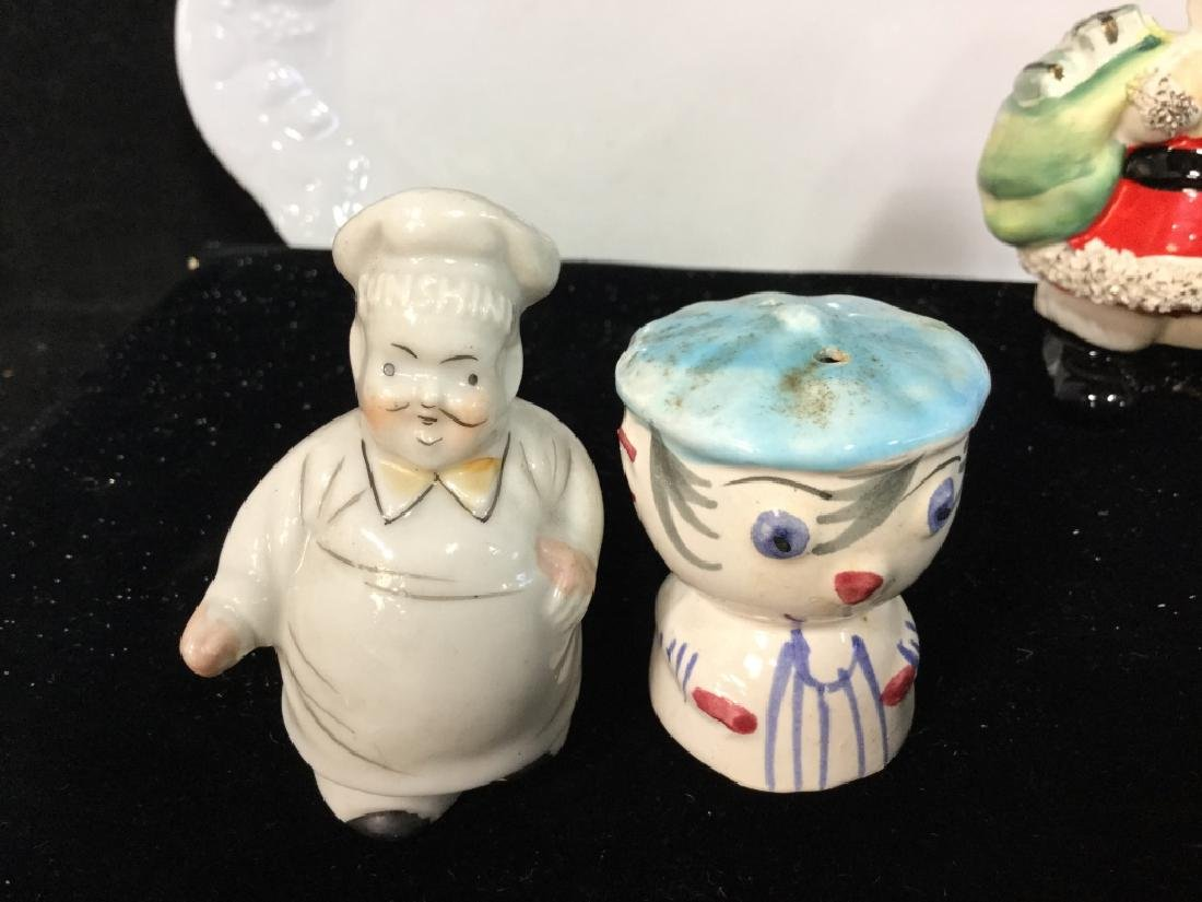 Vintage Group Lot of Salts with white plate - 5