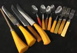 Vintage Group Lot of Bakelite Cutlery