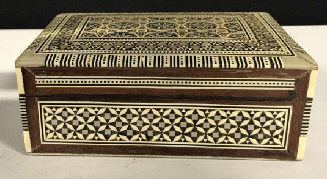 Middle Eastern Mosaic Box W Mother of Pearl - 2