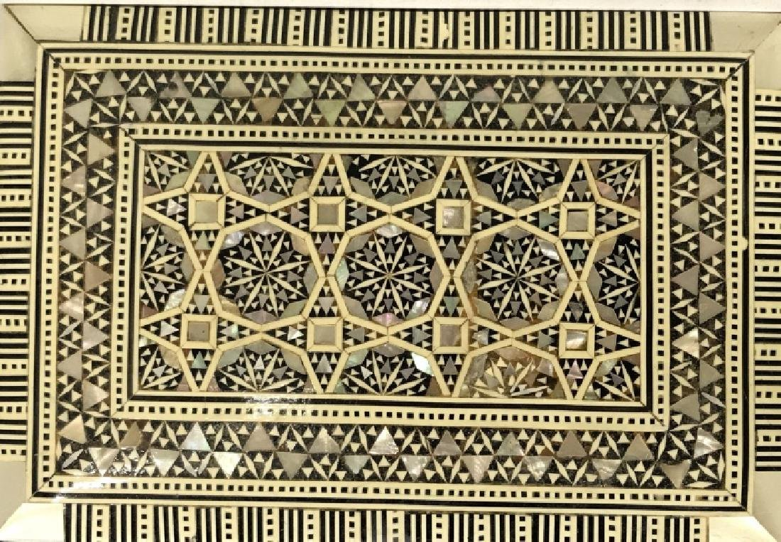 Middle Eastern Mosaic Box W Mother of Pearl - 4