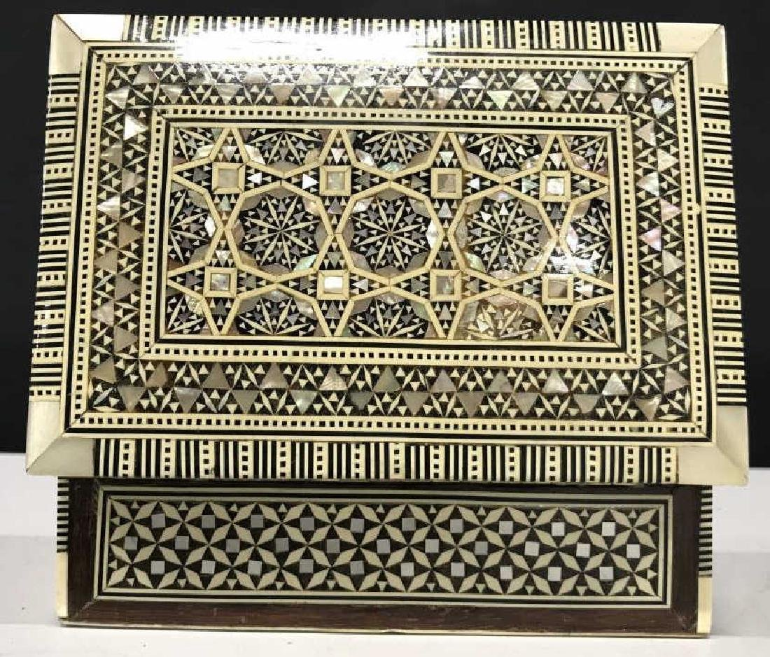 Middle Eastern Mosaic Box W Mother of Pearl - 8