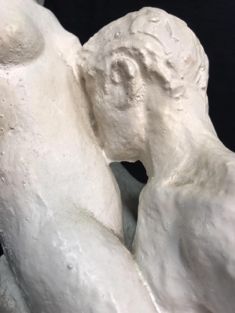 Vintage Female Nude W Male Nude Plaster Sculpture - 10