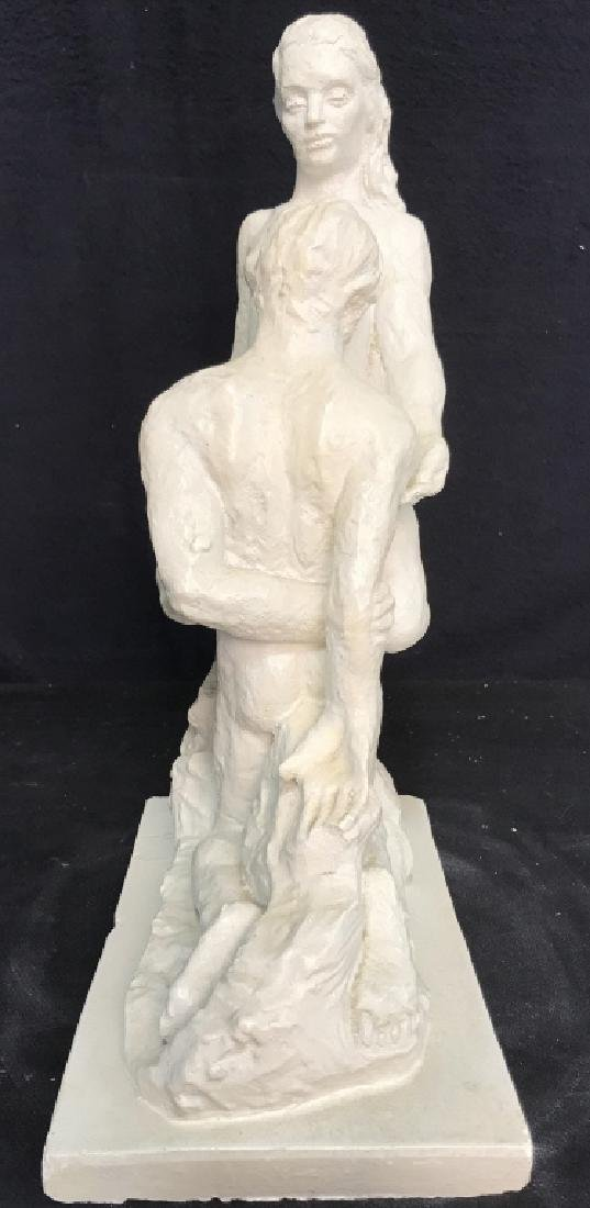 Vintage Female Nude W Male Nude Plaster Sculpture - 7