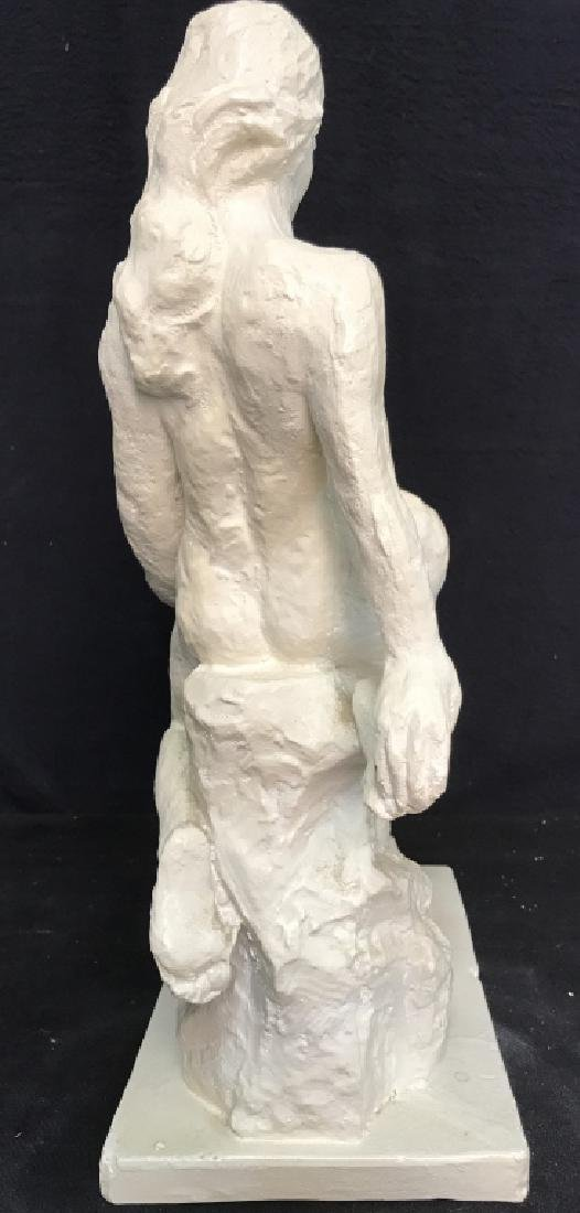 Vintage Female Nude W Male Nude Plaster Sculpture - 8