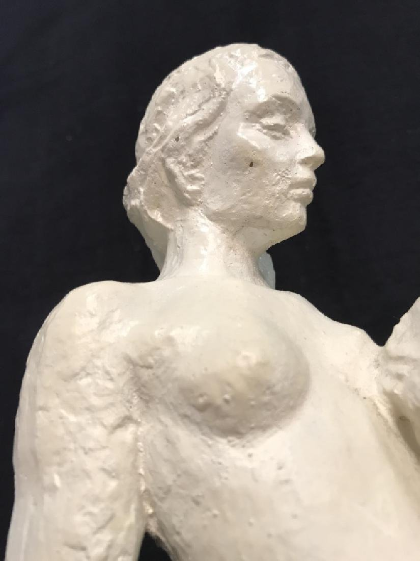 Vintage Female Nude W Male Nude Plaster Sculpture - 9