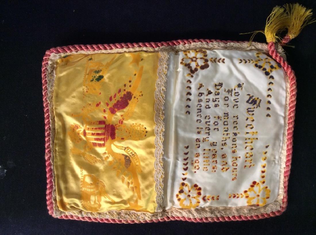 Vintage Wartime Memorabilia Sweetheart Pouch