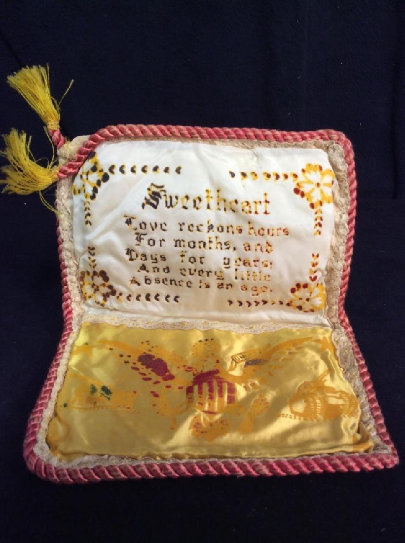 Vintage Wartime Memorabilia Sweetheart Pouch - 3
