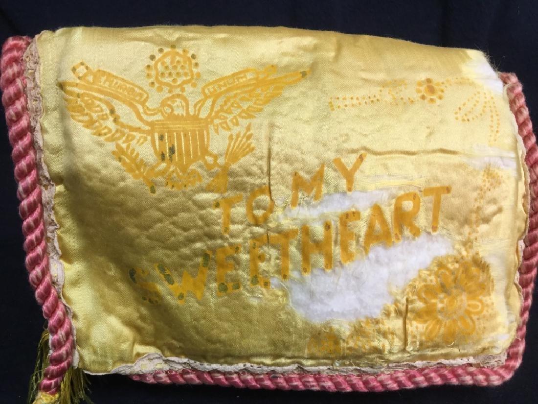 Vintage Wartime Memorabilia Sweetheart Pouch - 7