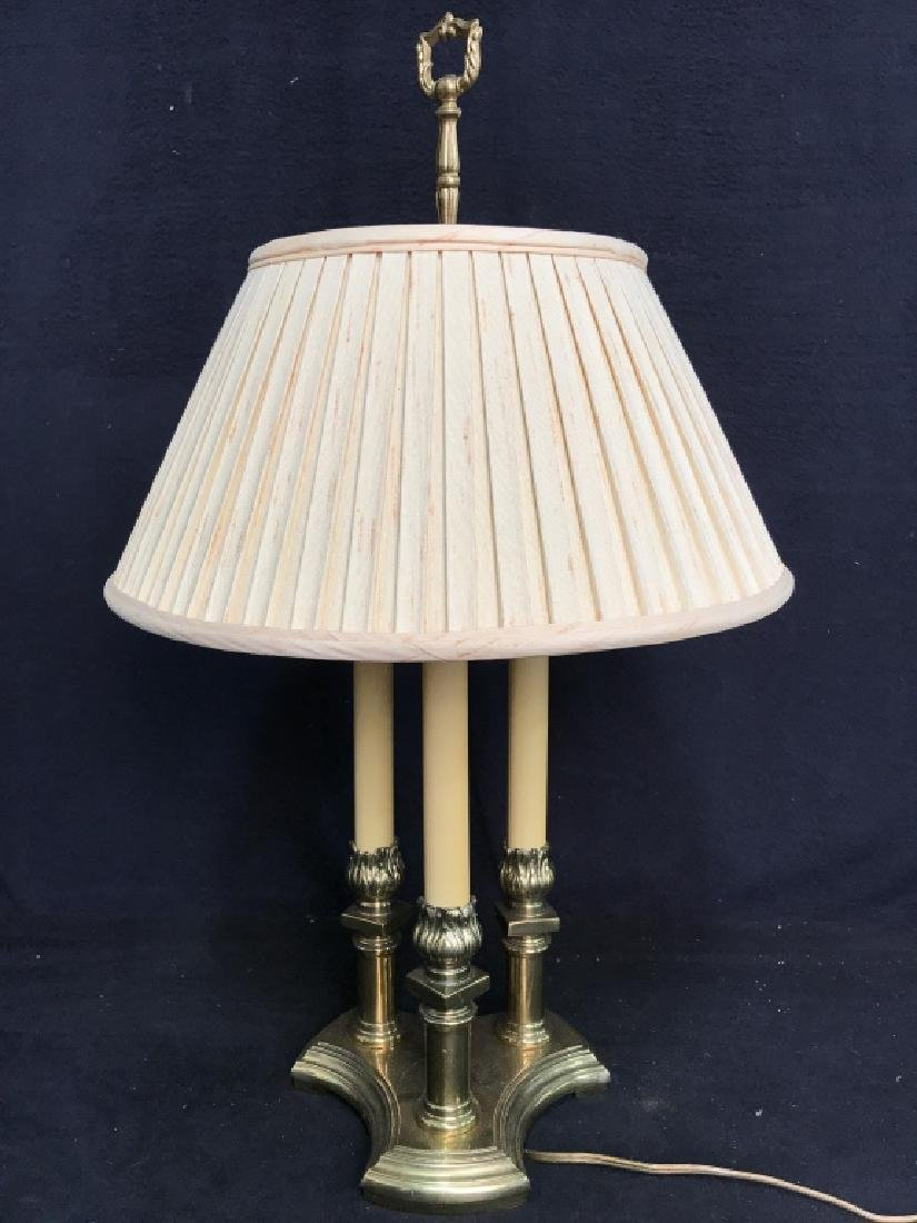 Candlestick Style Lamp W Shade