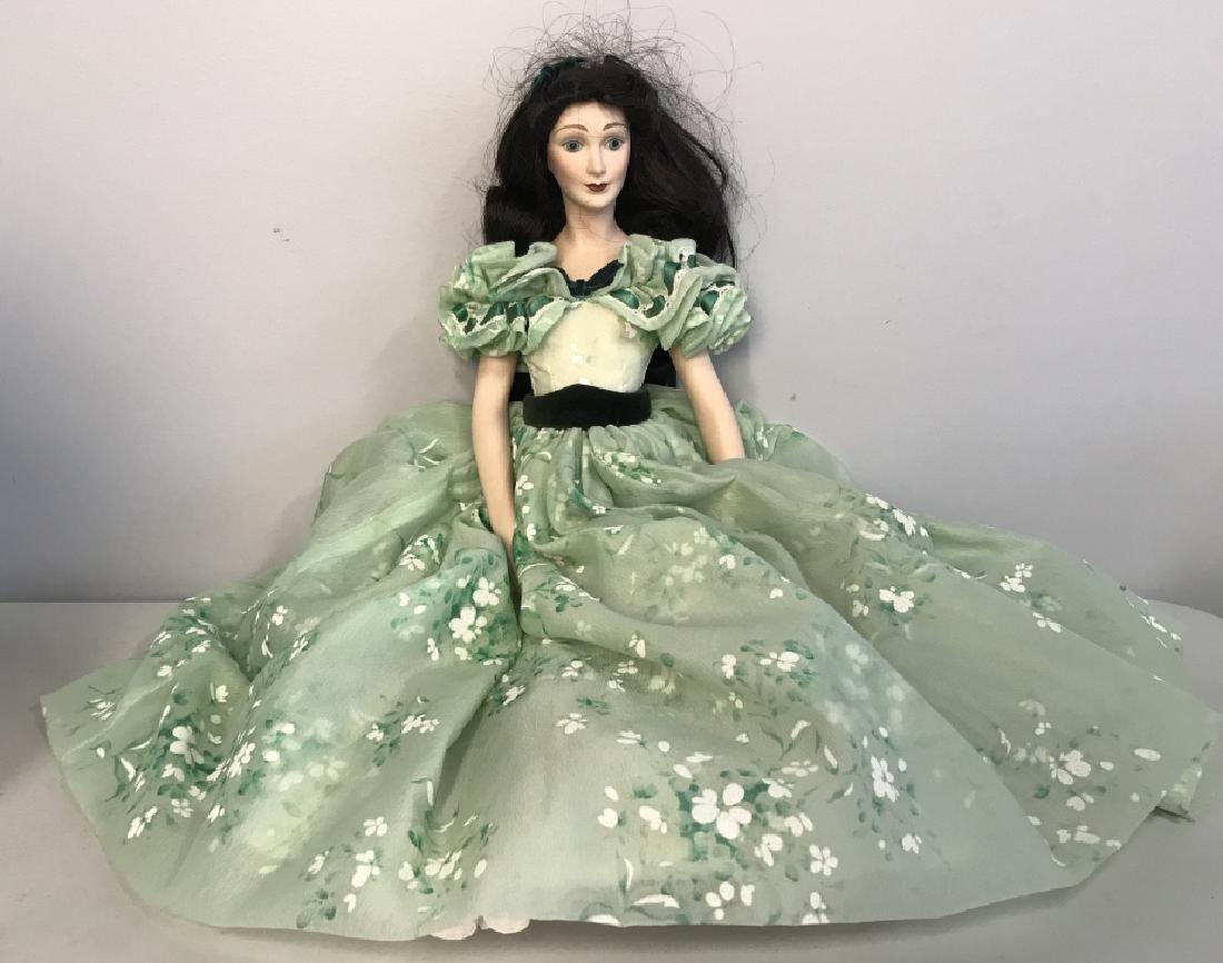 Vintage FRANKLIN HEIRLOOM Porcelain Doll - 2