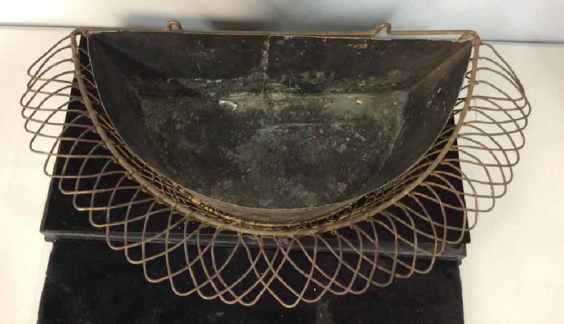 Vintage Metal Hanging Planter - 2