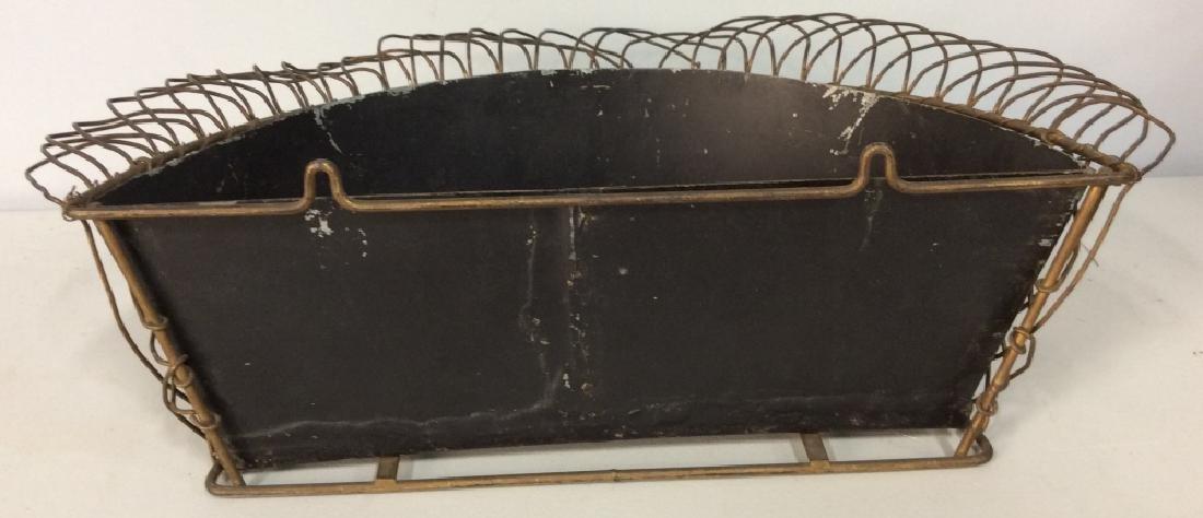 Vintage Metal Hanging Planter - 3