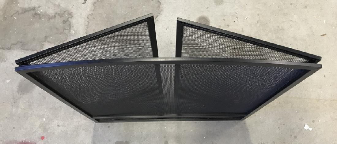 Black Toned Metal Fold Out  Fire Screen - 4