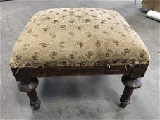 Poss Antique Carved Wooden Foot Stool