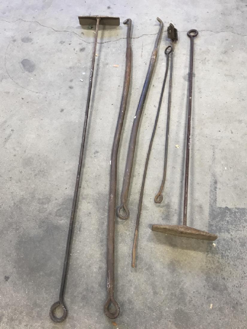Lot 6 Antique Iron Farm Tools