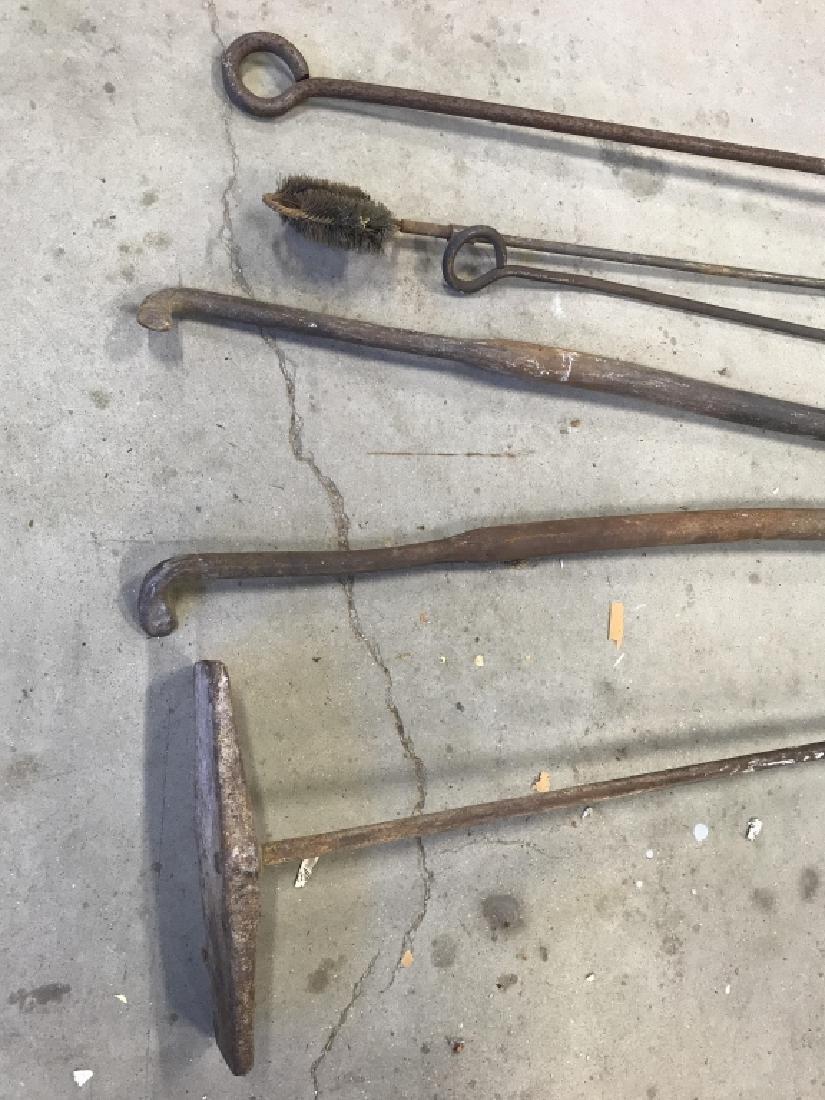 Lot 6 Antique Iron Farm Tools - 3