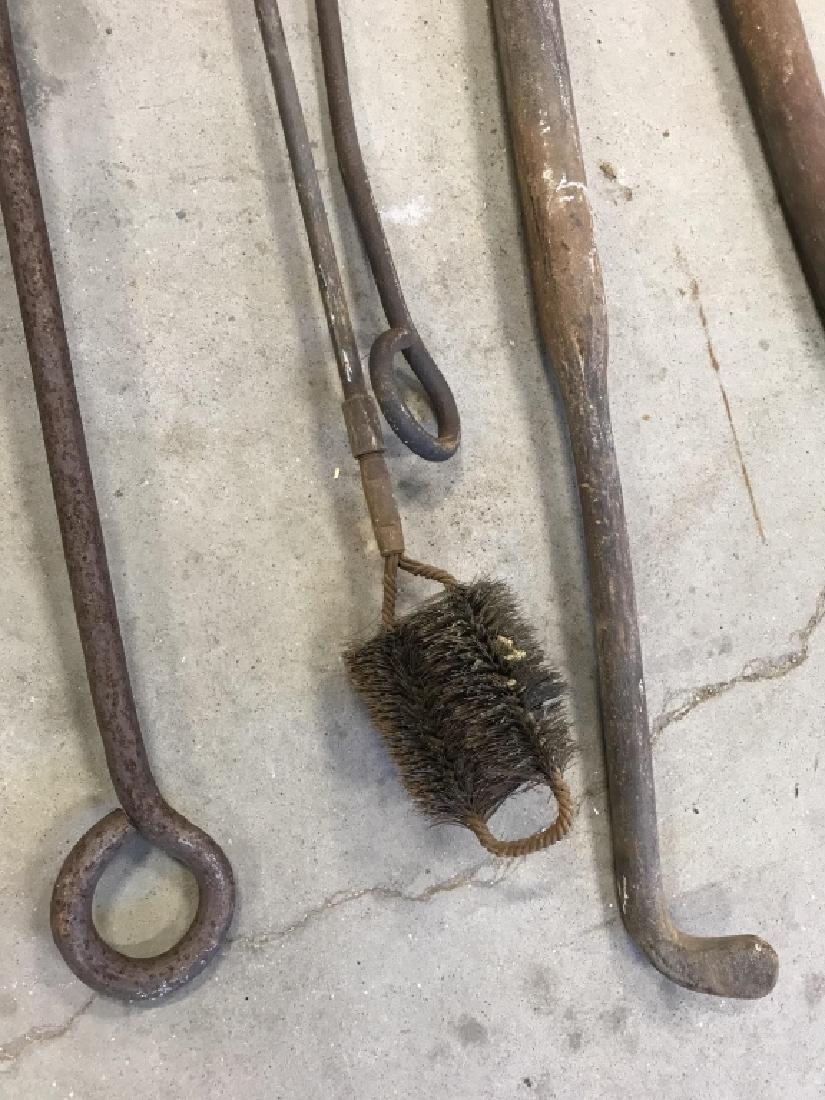 Lot 6 Antique Iron Farm Tools - 4