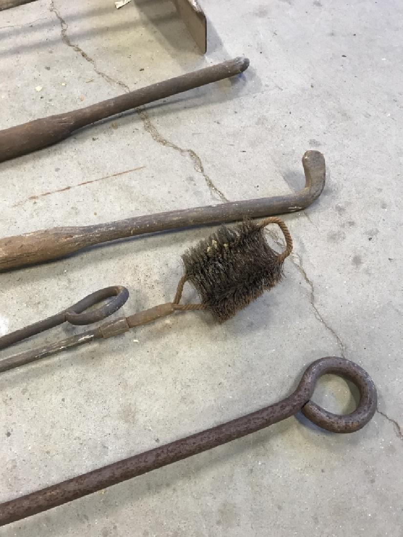 Lot 6 Antique Iron Farm Tools - 5
