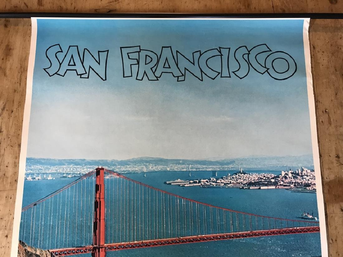 Vintage San Francisco Travel Advertisement Poster - 4