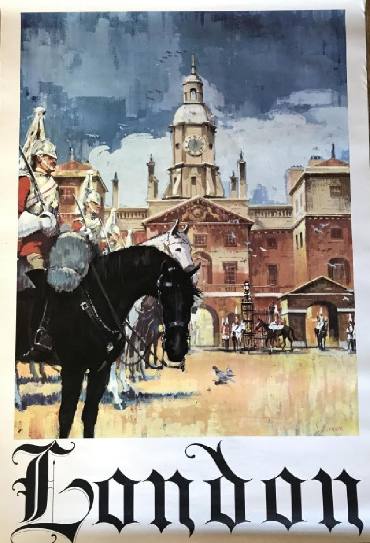 Vintage London Travel Advertisement  Poster
