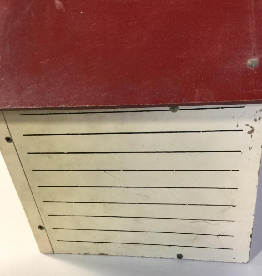 Vintage painted Particle Board Dollhouse - 10