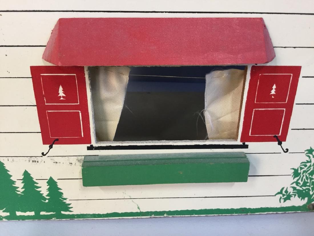 Vintage painted Particle Board Dollhouse - 2