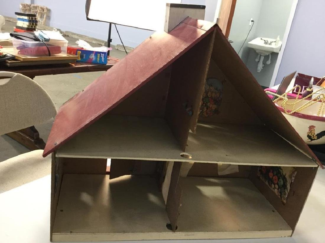 Vintage painted Particle Board Dollhouse - 7