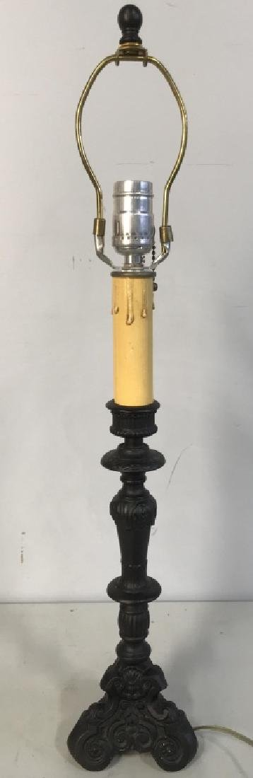 Metal Candlestick Style Lamp - 3