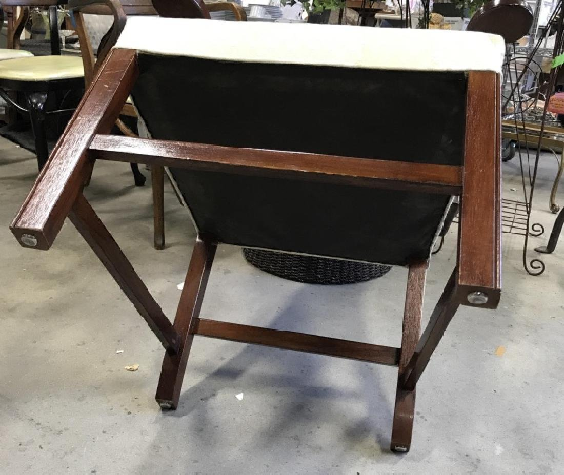 Mahogany Toned Wooden & Upholstered Arm Chair - 7