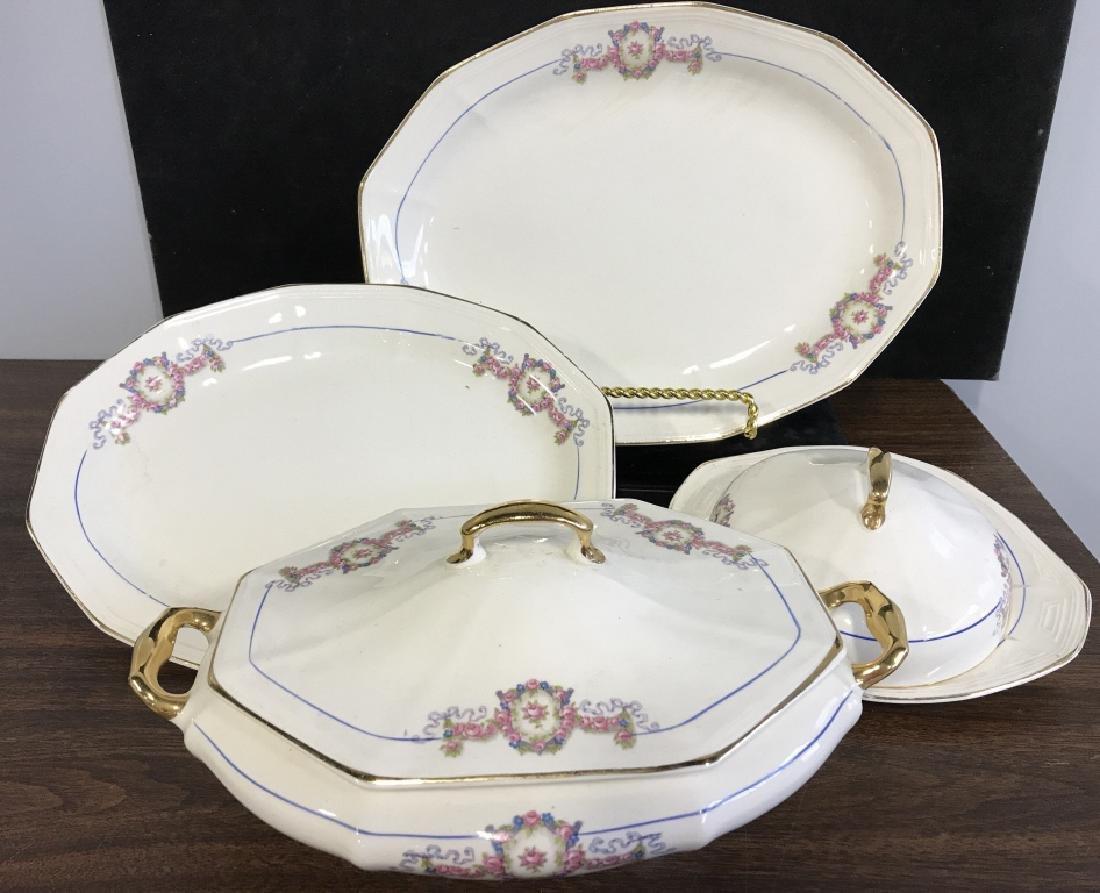 Vintage Group of porcelain Serving Utensils - 2