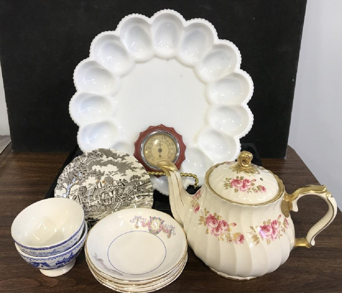 Mixed Lot of Misc. Porcelain & Glass items
