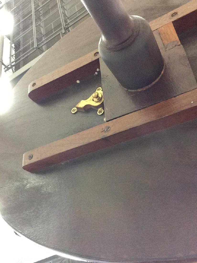 Folding Pedestal Table W Inlay - 6