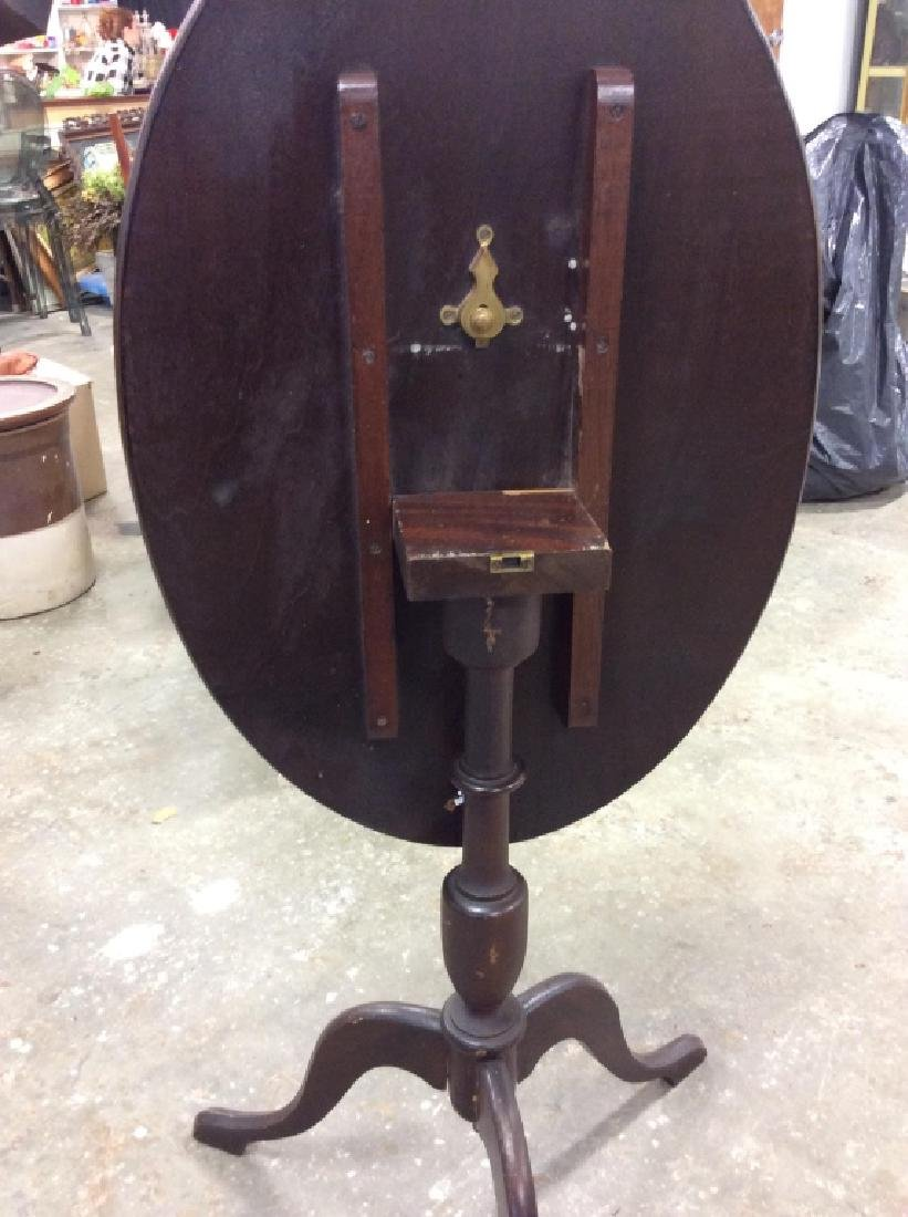 Folding Pedestal Table W Inlay - 7