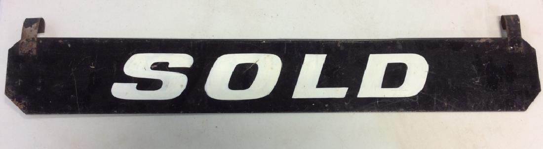 Vintage Outdoor Metal 'SOLD' Sign