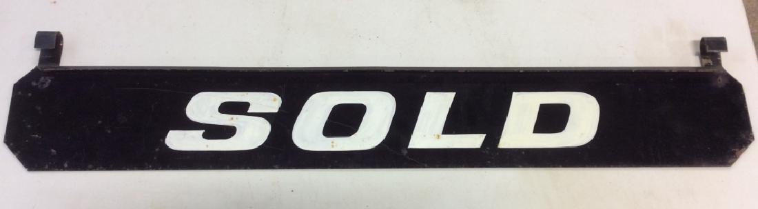 Vintage Outdoor Metal 'SOLD' Sign - 2
