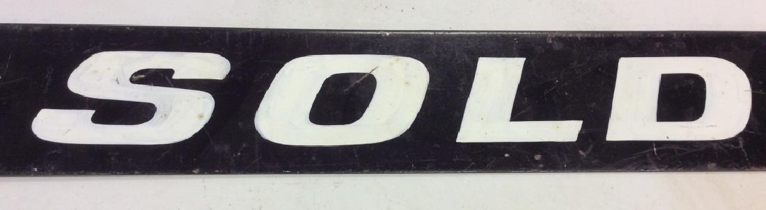 Vintage Outdoor Metal 'SOLD' Sign - 3