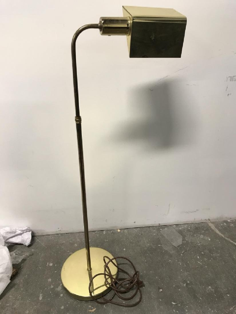 Brass Toned Standing Floor Lamp - 6