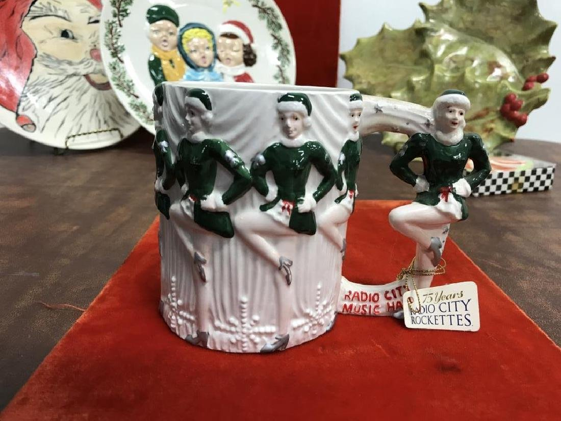 Group Lot of Vintage Christmas Dishes - 10