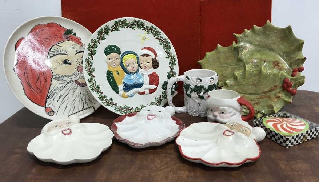 Group Lot of Vintage Christmas Dishes