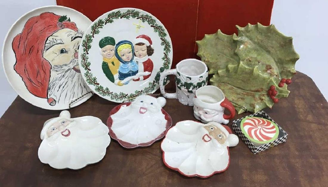 Group Lot of Vintage Christmas Dishes - 2