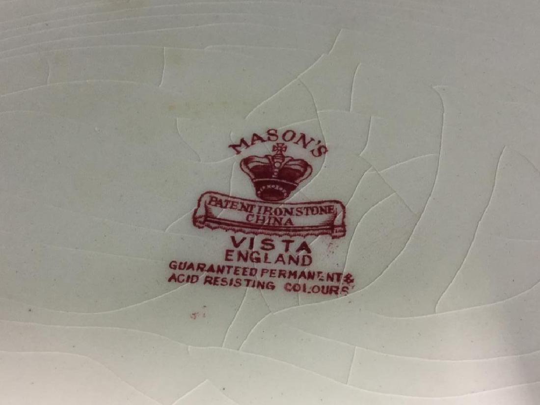MASON'S Ironstone Red & White Serving Platter - 10