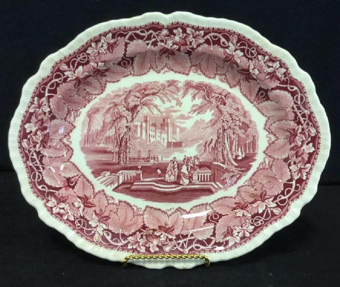 MASON'S Ironstone Red & White Serving Platter