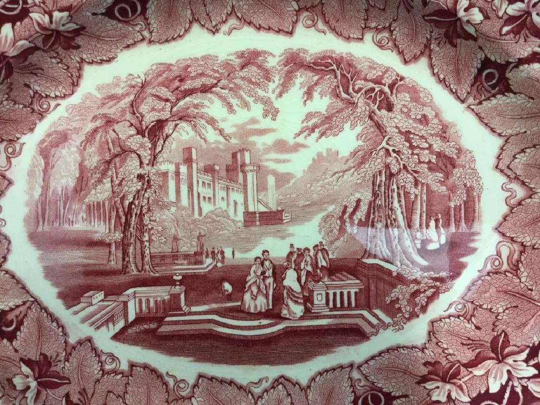 MASON'S Ironstone Red & White Serving Platter - 2