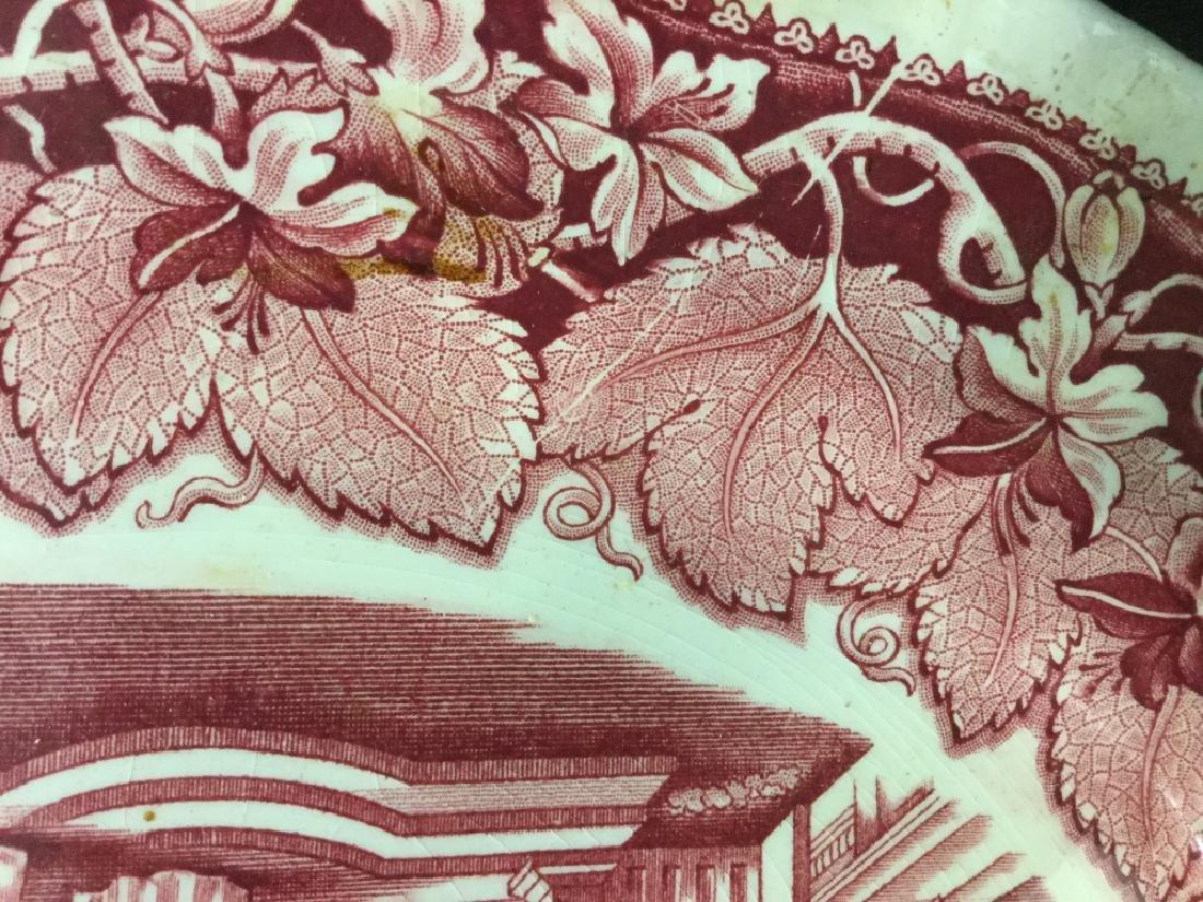 MASON'S Ironstone Red & White Serving Platter - 5