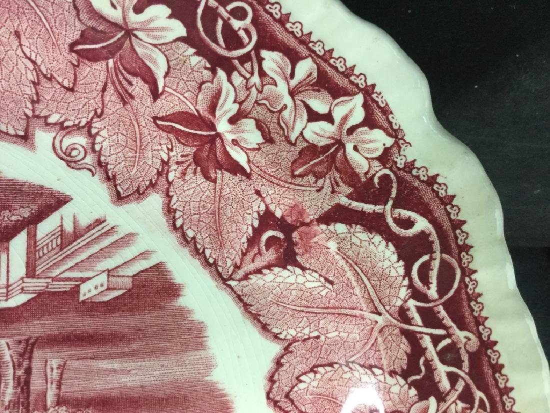 MASON'S Ironstone Red & White Serving Platter - 6