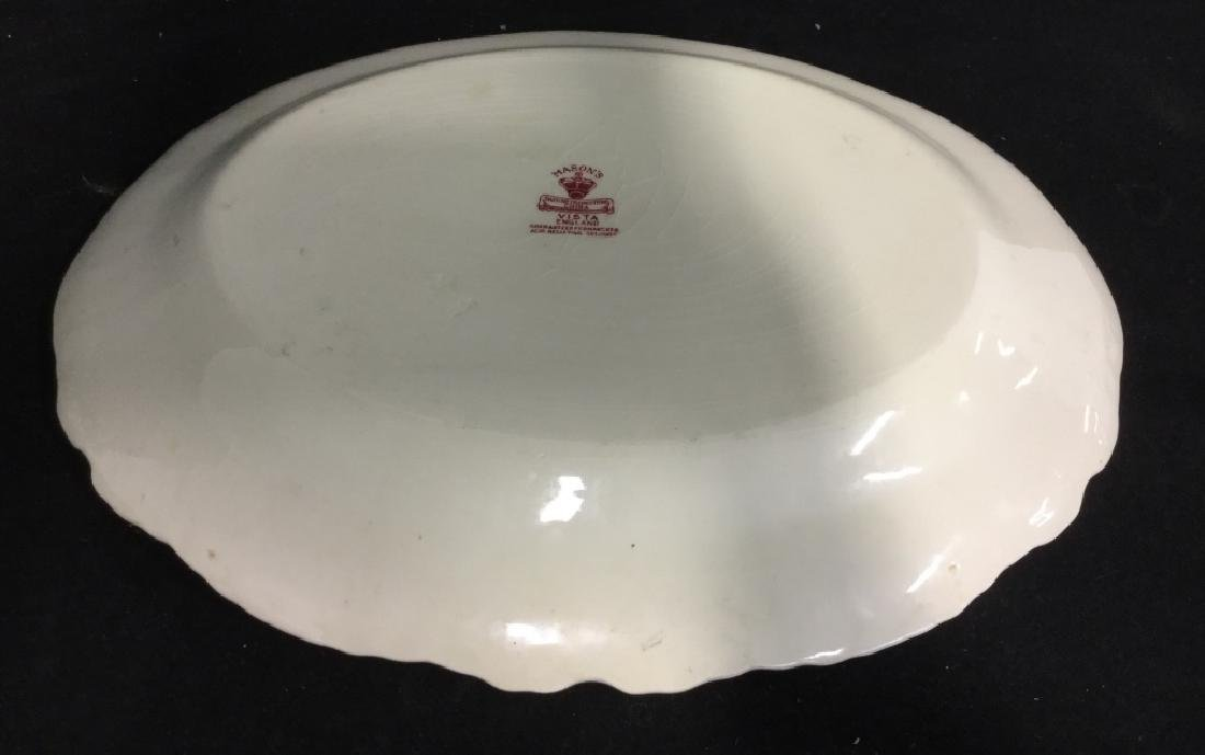 MASON'S Ironstone Red & White Serving Platter - 9