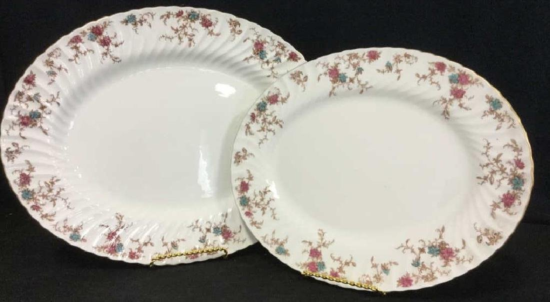 Pair of MINTON Bone China Oval Serving Platters