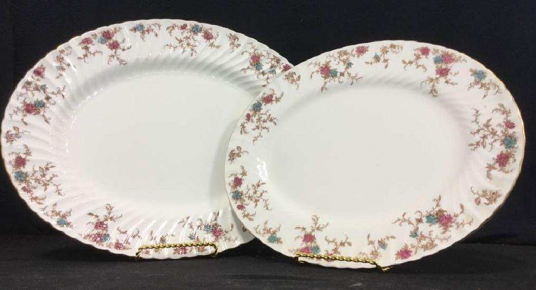Pair of MINTON Bone China Oval Serving Platters - 2